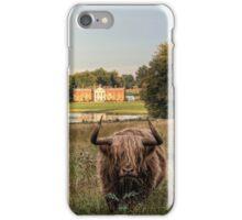 Highland Cow at Avington Park, Hampshire iPhone Case/Skin
