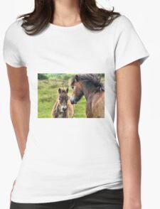 Exmoor Pony and Foal Womens Fitted T-Shirt