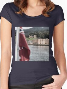Port Arthur building in Tasmania, Australia. Women's Fitted Scoop T-Shirt