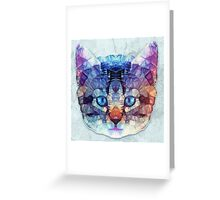 abstract kitten Greeting Card