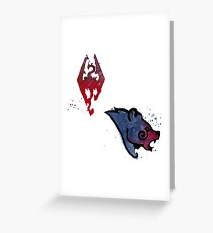 Skyrim Sticker Pack Greeting Card