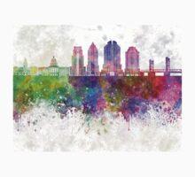 Sacramento V2 skyline in watercolor background Kids Tee
