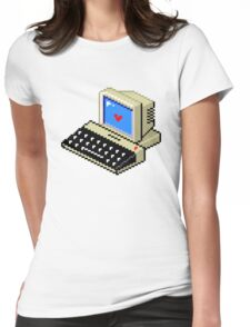 Cool computer love Womens Fitted T-Shirt