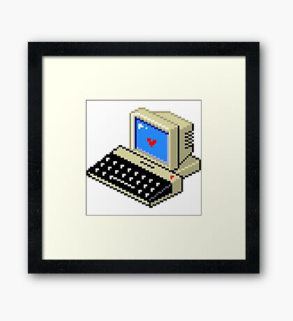 Cool computer love Framed Print