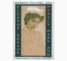 Performing Arts Posters Merely Mary Ann Garden Theatre New York every evening Saturday matinee 0097 Kids Tee