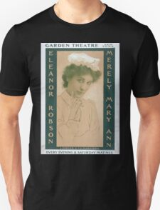 Performing Arts Posters Merely Mary Ann Garden Theatre New York every evening Saturday matinee 0097 Unisex T-Shirt