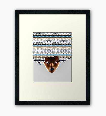 AFRO_Orange & Blue Framed Print