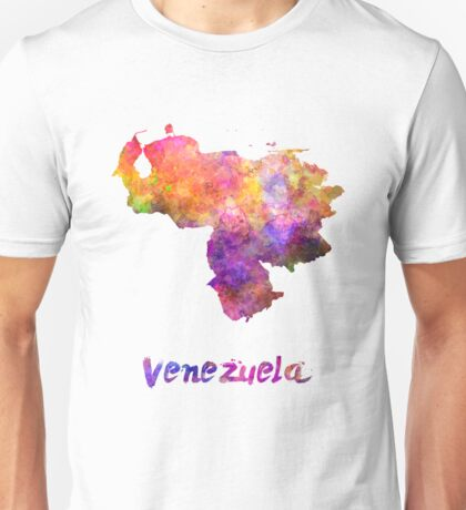 Venezuela in watercolor Unisex T-Shirt