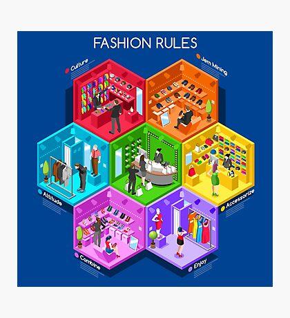 Fashion Cells Isometric Photographic Print