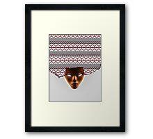 AFRO_RED Framed Print