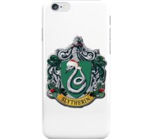 slytherin Christmas card iPhone Case/Skin