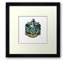 slytherin Christmas card Framed Print