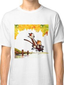 Play on lake Calvin and Hobbes Classic T-Shirt