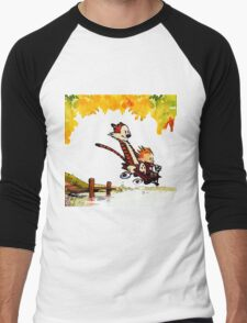 Play on lake Calvin and Hobbes Men's Baseball ¾ T-Shirt