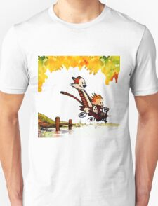 Play on lake Calvin and Hobbes Unisex T-Shirt