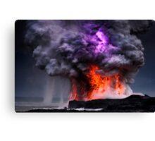 Kilauea Volcano at Kalapana 5 Canvas Print