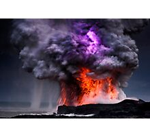 Kilauea Volcano at Kalapana 5 Photographic Print