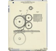 Machine for Making Wire Glass-1905 iPad Case/Skin
