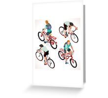 Teen Boys Cycling Isometric Greeting Card