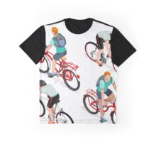 Teen Boys Cycling Isometric Graphic T-Shirt