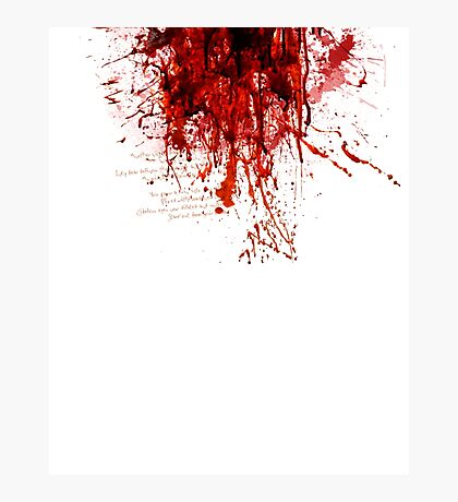 Blood (Last Breath) Photographic Print