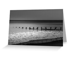 Breakwater at Withernsea, East Yorkshire Greeting Card