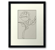 Beauty & The Beast Rose Framed Print