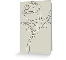 Beauty & The Beast Rose Greeting Card