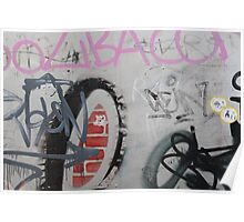 Graffiti wall art Poster