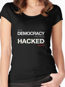 hacked Women's Fitted Scoop T-Shirt