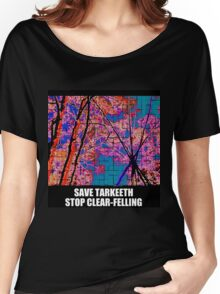 Tarkeeth tripod SAVE TARKEETH NO CLEAR-FELLING Women's Relaxed Fit T-Shirt