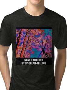 Tarkeeth tripod SAVE TARKEETH NO CLEAR-FELLING Tri-blend T-Shirt