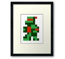 8 bit turtle Framed Print