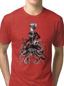 Victorian Lady Squid Tri-blend T-Shirt