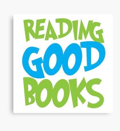 Reading good books Canvas Print