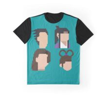 Ace Attorney Heads. Graphic T-Shirt