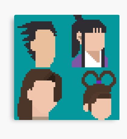 Ace Attorney Heads. Canvas Print