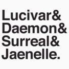 Lucivar & Daemon & Surreal & Jaenelle by jazzydevil