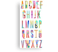 Abc | Alphabet Creation #redbubble #decor #buyart Canvas Print