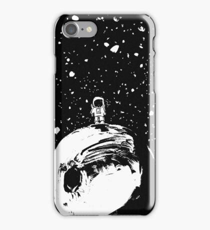Man on the Moon - BW Edit iPhone Case/Skin