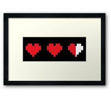 Videogame energy. Gaming life indicator Framed Print