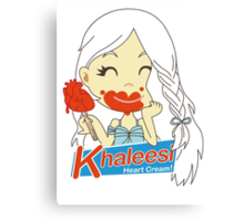 Khaleesi Heart Cream! Canvas Print