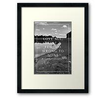 love all Framed Print