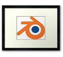 Blender logo Framed Print