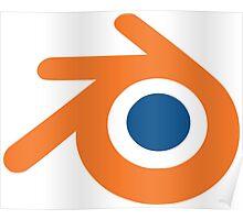 Blender logo Poster