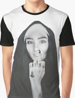 nun of your business - Lane Graphic T-Shirt