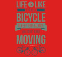 Life is Like Riding a Bicycle - Motivational Biking Cycling T shirt One Piece - Short Sleeve
