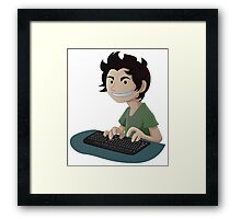 Computer Man Caricature #4 - Young Teen Kid Framed Print