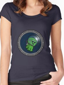 Astro Creeper in the Space Women's Fitted Scoop T-Shirt