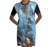 abstract blue 9,16 Graphic T-Shirt Dress